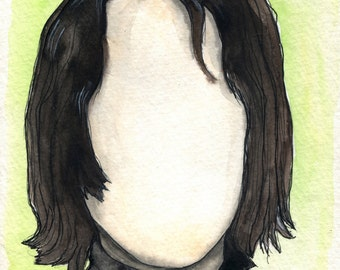 Alan Rickman - Always - Snape - 8x10 Art Print - Art by Marcia Furman