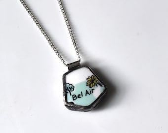 Broken China Jewelry Pendant - Bel Air Maryland