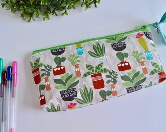 Cactus Pouch - Pencil Case - Pencil Pouch - Zipper Pouch - Make up Bag - Cosmetic Pouch - Teacher Gift - Gift for Mom - Cactus zipper Pouch