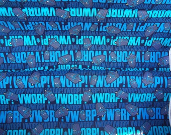 Dr. Who BLUE VWORP Cotton Fabric Springs Creative BBC Worp 43/44 Wide By The Yard