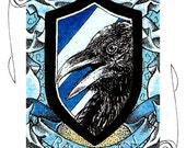 items similar to ravenclaw crest aceo 25x35 print mini