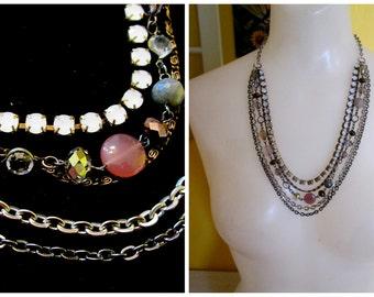 Vintage Multi-Strand Adjustable Necklace