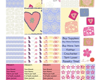 SALE! Knitting/ crochet Planner Stickers for the Happy Planner by MAMBI