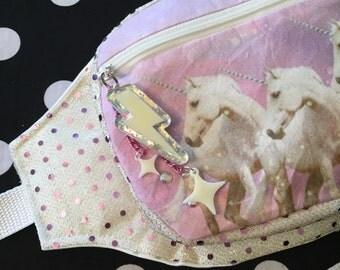 Sequin pastel unicorn Fannypack