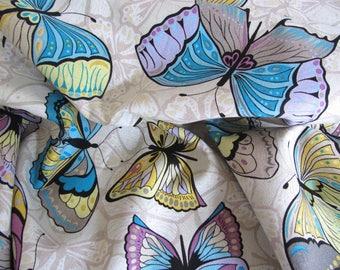 Freespirit Linen/Cotton Blend Butterflies