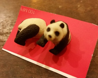 Panda stud earrings.
