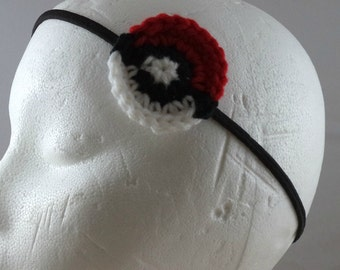 Crocheted Monster-Catching Ball Headband - Red (SWG-HH-PMBA01)