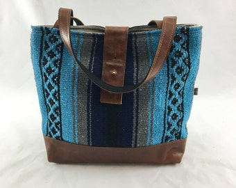 SALE Ann Bag Made with a Mexican Blanket