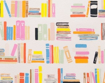 Summer Reading in Natural Woven Cotton Fabric Alexander Henry Cotton Fabric 1 Yard