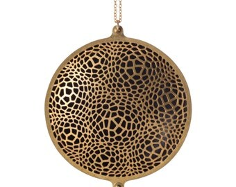Locule Necklace | etched brass | Corollaria collection