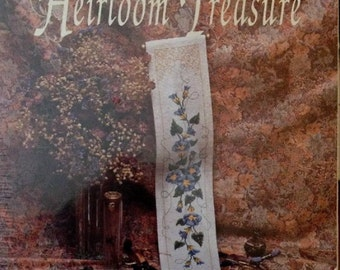 BELL PULL Counted Cross Stitch Kit Blue Heirloom Treasure Designs For The Needle