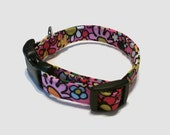 Disney Mickey Mouse Inspired by Vera Bradley Just Mousing Around Mickey Dog Collar XS S M L