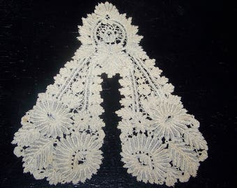 Antique Handmade Bobbin  Lace Jabot