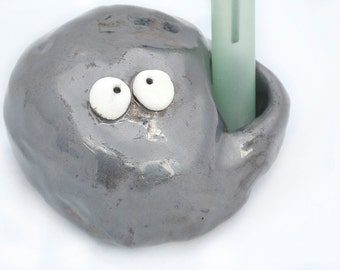 Trevor, the Rock Guy bud vase holder
