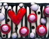 Love Rectangle --Handmade Lampwork Bead