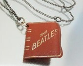 Vintage Beatles Leather Photo Album Necklace Made in England