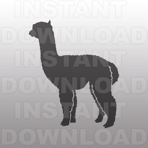 Alpaca Svg File Vector Clip Art For Commercial Amp Personal
