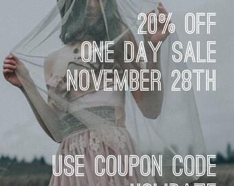 20% off One Day Sale Nov.28th