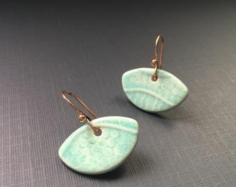 Aqua Ceramic Earrings