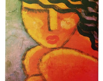 Abstract Portrait of a Woman Printed on Ceramic Tile