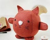 WINTER SALE Make Your Own Squirrel Toy Craft Kit. Children's Sewing Kit. Luxury Craft Kit. Squirrel Softie. Squirrel Plush.