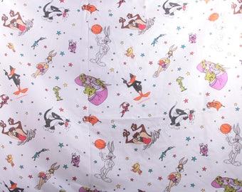 Looney Tunes, Fabric, 1996, Warner Bros, Daffy Duck, Cartoons, Stars ~ The Pink Room ~ 161122