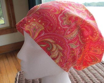 Hot, Hot Paisley Hattie Style...............Surgical Hat....Bakers Hat