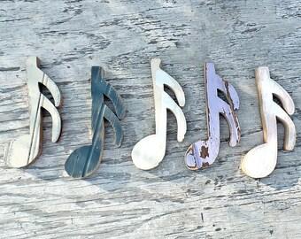 Five Musical Notes, Music Decor,, Bohemian Decor, Musician Gift, Music Teacher Gift. Musical Wall Notes, Sixteenth Notes, Musical Art