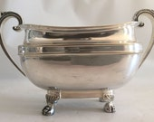 Beautiful Silver Double-Handled Vessel from Harrods, London, Circa 1900s. Perfect for Small Flower Arrangement, Candy or Cotton Balls!