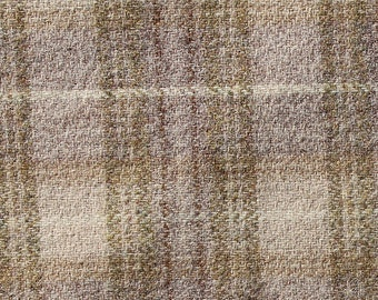 Favorite Khaki Plaid ~ Wool Fabric for Rug Hooking, Applique, Quilting and more
