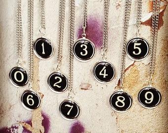 Choose your numbers ...... Vintage Typewriter Number Key Necklace