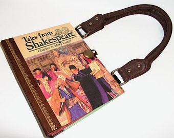 Book Purse Tales of Shakespeare, Handmade Womens Handbag, Recycled Upcycled Bag