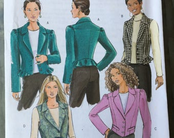 Butterick B4862 Uncut Misses PETITE pattern size AA vests and fitted jacket 2006
