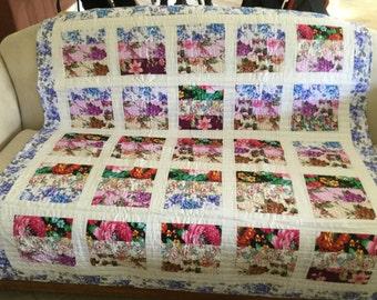 Patchwork Lap quilt #J-66