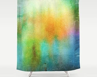 Shower Curtain Watercolor Abstract Art Bathroom
