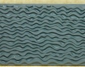 TIDE LINES  Rubber Texture Tile Mat Stamp for Clay inks  Paint Soap  TTK214