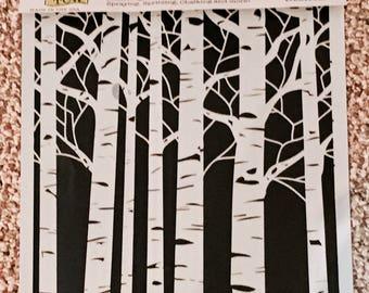 ASPEN TREES  TCW 12 x 12 Stencil