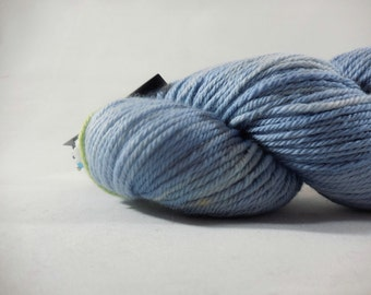 "Old School Merino Worsted Weight yarn in ""Blue Steel"" by AnniePurl"