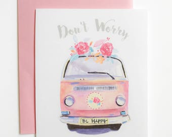 Greeting Card - Be Happy Camper