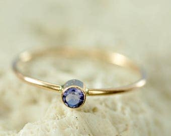 14k gold custom birthstone ring - mothers ring - natural gemstone ring - birthday gift for her - gift for mom - promise ring