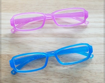 Plastic Glasses For Blythe - 1 pcs - Purple / Blue