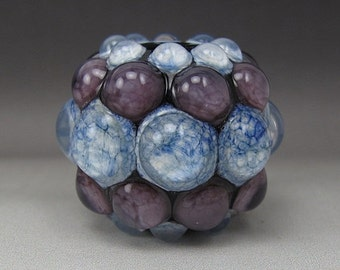 End of Year Sale Handmade Lampwork Glass Dot Focal Bead by Jason Powers SRA