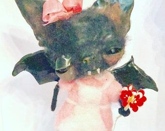 Beth the Bat ooak art doll