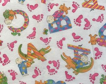 Alphabet Baby Quilt Fabric - Lullabies by Hoffman International