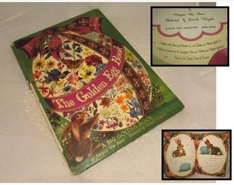 Vintage First Edition Hardcover Children's Book, The Golden Egg Book, Margaret Wise Brown, illustrated, 1947, Big Golden Book, bunny rabbit
