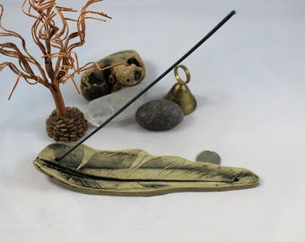Feather Incense Holder - Handmade ceramic