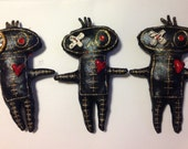12 Black and Gold Voodoo Dolls - Wholesale