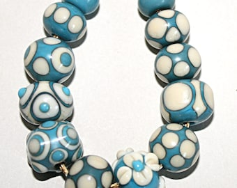 Lampwork  Art Beads by Jeanniesbeads #1679
