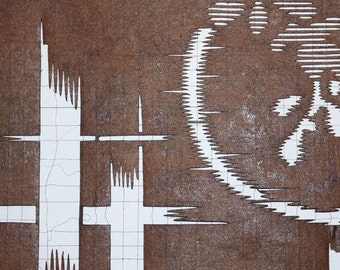 Vintage Japanese Katagami Stencil from Japan - Ikat Wannabe