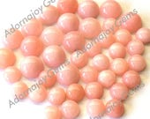Gemstone Cabochons Opal Pink 6mm Round FOR TWO